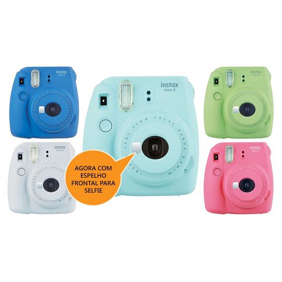 Câmera Instax Mini 9 Fujifilm Instaxmini9 Azul Aqua
