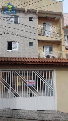 Cobertura Com 2 Dormitórios À Venda, 122 M² Por R$ 330.000,00 - Vila Guarani - Santo André/sp - Co1054