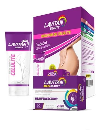 Lavitan Beauty Kit Rejuvenescedor+creme Redutor De Celulite