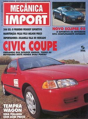 Suplemento Om.096 Set94- Civic Cupê Eclipse Peug306 Temprsw