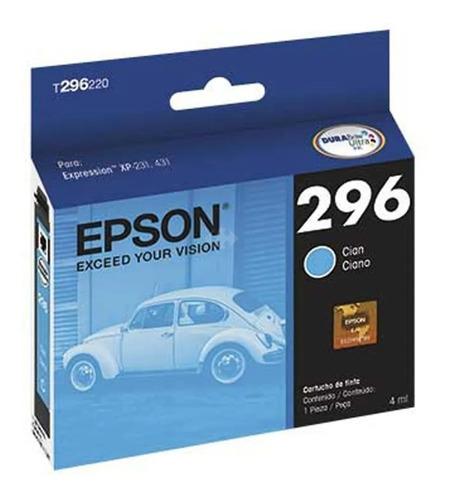Cartucho De Tinta Epson T296220 296 Cyan Cian Original