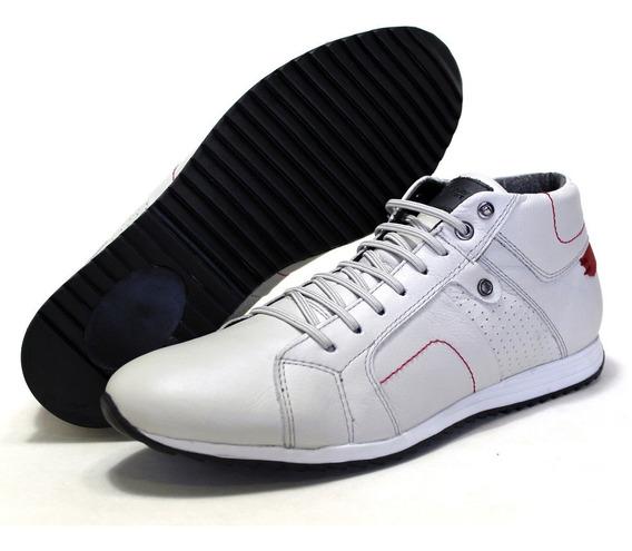 Tenis Ranster Sapatenis Bota Calçados Cano Alto Emcouro Luxo