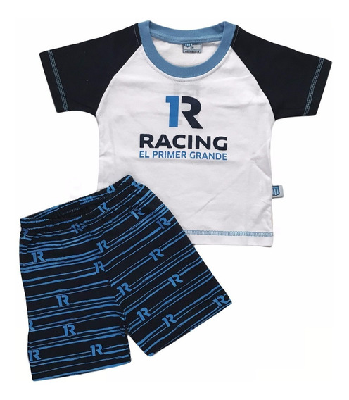 Pijama Racing Verano Bebe Licencia Oficial Nuevo Modelo