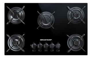 Fogão cooktop a gás Brastemp BDD75 Ative! preto 110V/220V