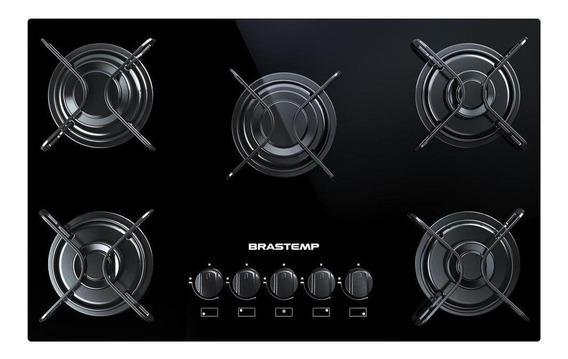 Fogão cooktop a gás Brastemp BDD75 Ative! preto 110V/220V (Bivolt)