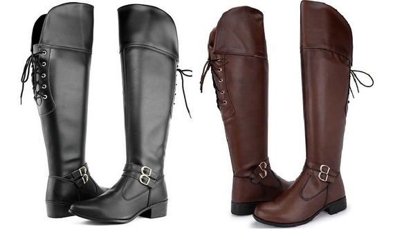 Kit 2 Pares Bota Feminina Cano Alto Longo Over 11503