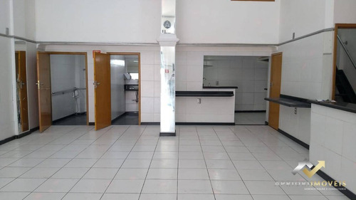 Salão Para Alugar, 80 M² Por R$ 2.800,00/mês - Jardim Ana Maria - Santo André/sp - Sl0011