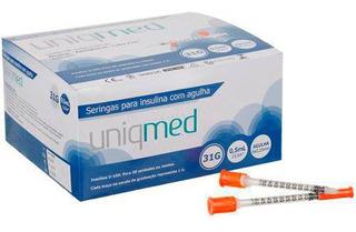 Seringa Insulina Uniqmed 0,5ml Ag Curta 6mm 31g Caixa 100un