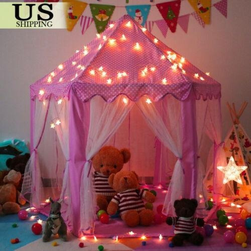 Castal Play Tent+star String Lights - Princesa Rosa Cas-3555