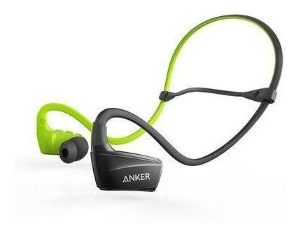 Fone De Ouvido Anker Sport Bluetooth - Preto / Verde