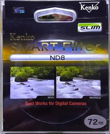 Filtro Densidade Neutra Kenko-tokina Nd8 Slim 72mm