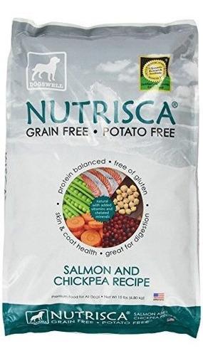 Paquete De 15 Libras De Salmon Y Garbanzos Dogswell Nutrisca