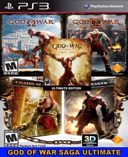 Coleção Do God Of War 5 Jogos Ps3 Psn Digital
