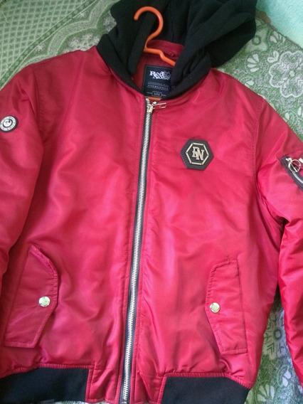 Jaqueta De Frio Vermelha Masculina Red Nose Luxo Importada