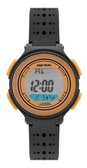 Relógio Infantil Digital Preto E Laranja Prova D