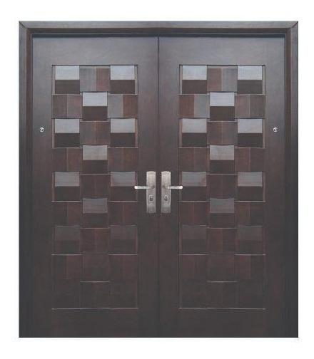 Puerta De Seguridad Xe Master Doble Aper Der Acero + Madera
