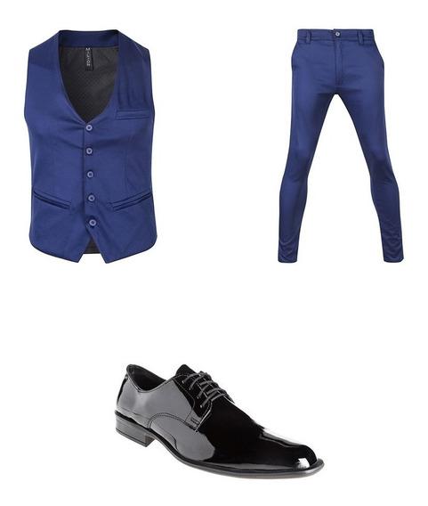 Zapatos Con Chaleco Y Chupin De Vestir Hombre Import Usa