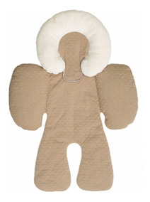 Almofada Com Suporte Bebê Conforto Encosto Travesseiro Bege