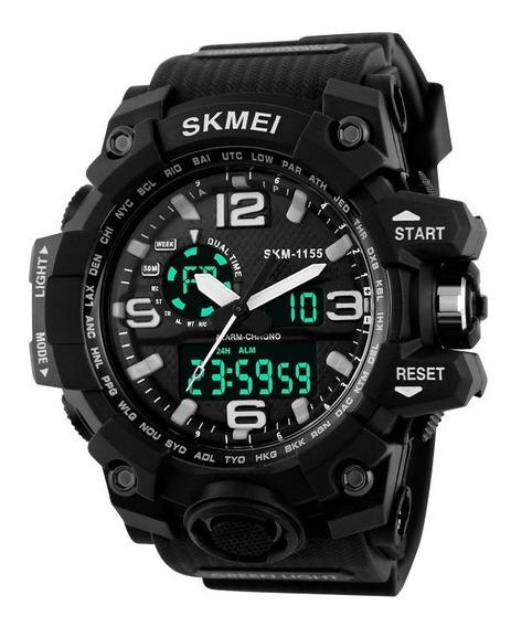 Relógio Skmei Digital Data Alarme Exército Esporte Militar Q