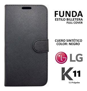 Funda Estilo Billetera Cuero Imitación Lg K11 Rosario