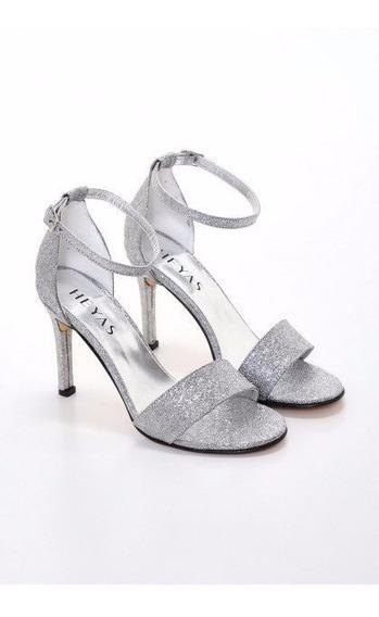 Zapato Sandalia Heyas Vestir Mujer Glitter Brillo Noche 2020