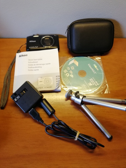 Cámara Nikon Coolpix S3600 Incluye Trípode Perfecto Estado