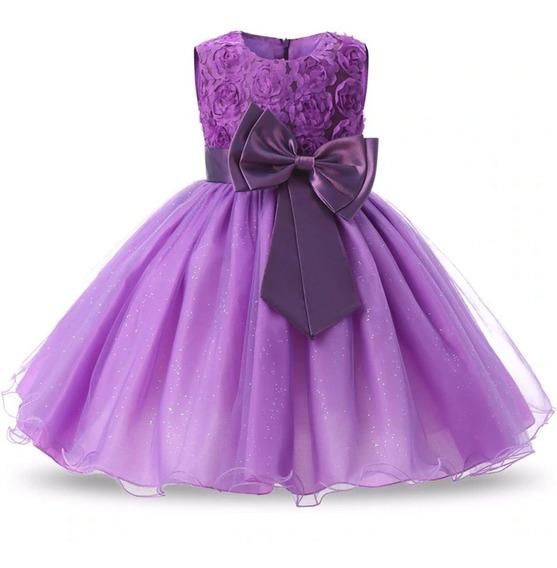 Vestido Festa Infantil Aniversario Reinado Princesa Batizado