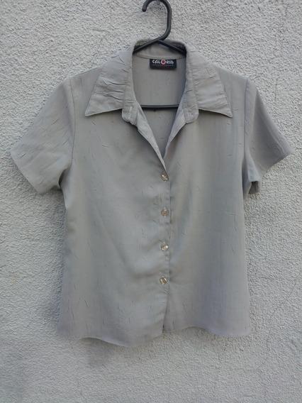 Camisa De Mujer.De Seda Arrugada.no Se PlanchaTalle 42 O M