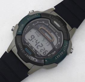 Casio Dual Time W-729h Cronógrafo Calendar Raro Década De 90