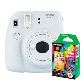 Câmera Instantânea Instax Fujifilm Mini 9 Branco + Filme 10