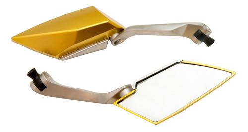 Imagem 1 de 3 de Retrovisor Esportivo Tipo Koso Dourado Honda Cb 300 2013