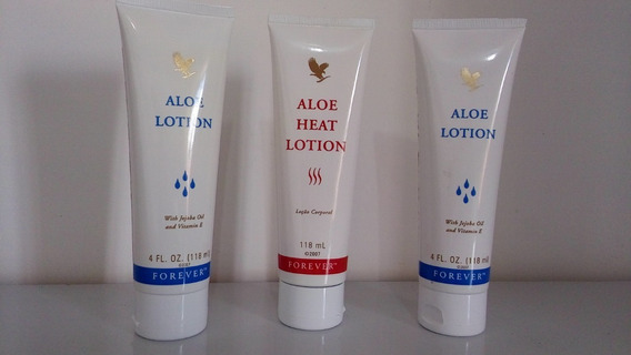Aloe Heat Lotion+ Aloe Lotion Forever (kit 3 Unidades)