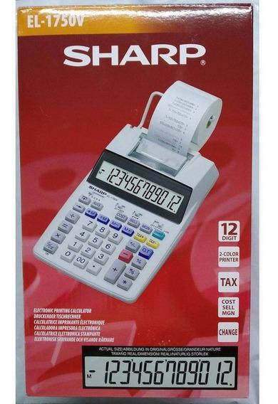 Calculadora De Mesa Sharp El-1750v - 12 Dígitos