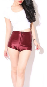 Short Hot Pants - Tecido Acetinado - Sra. Cuck