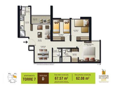 Nuevo Sabaneta Apartamento 3 Habitaciones 2 Baños Piso 12