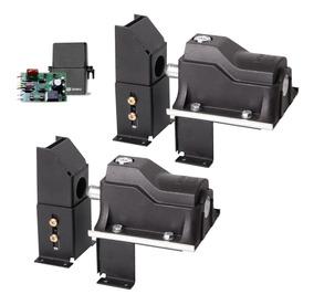 Kit 2 Trava Eletromagnética Portão Suporte Temporizador Eco