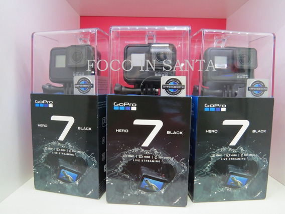 Câmera Gopro Hero 7 Black 12mp 4k60 + 32 Gb + Nf Eletronica