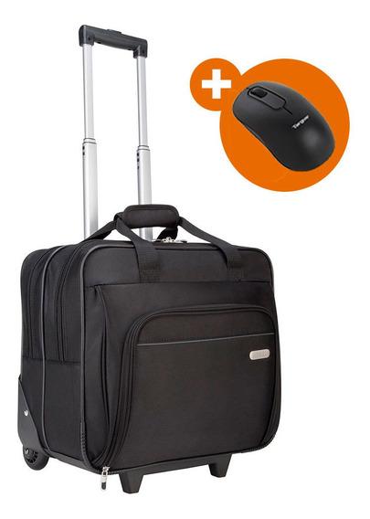 Kit Targus Maleta Com Rodinhas Tbr003 + Mouse Bluetooth B580