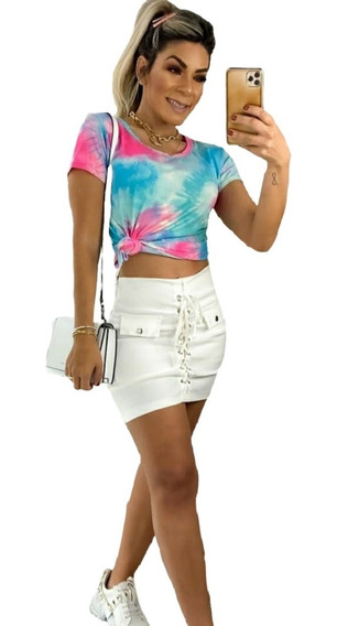 Blusinha Tie Dye Blusa T- Shirt Roupa Feminina Melhor Preço