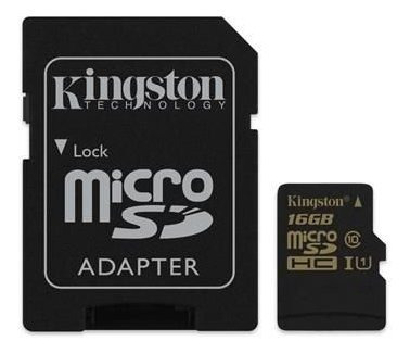 Cartao De Memoria Kingston Micro Sdhc 16gb Cl10 Sdca10/16gb