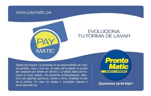 Tarjeta De Lavandería Paymatic De Prontomatic