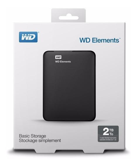 Disco Rigido Externo 2tb Usb 3.0 Wd Elements Xbox Ps4