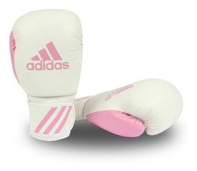 Luva Muay Thai Kickboxing adidas Response Branco/rosa