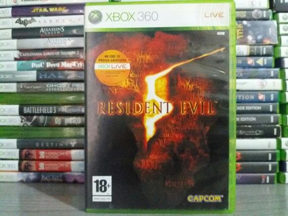 Jogo Terror Resident Evil 5 Xbox 360 Original Mídia Física