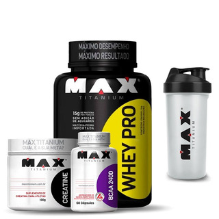 Kit Suplementos Whey+bcaa+creatina