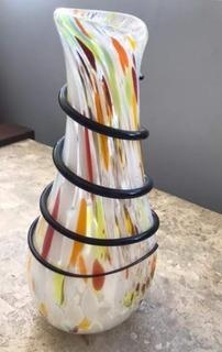 Florero Jarrón Arte Murano (piezas Unicas ) 33 Cm