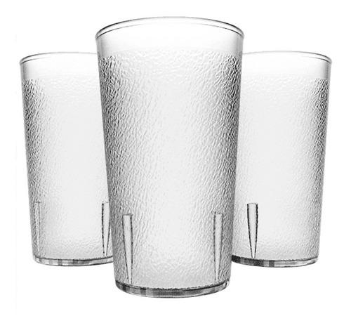 24 Vasos De 12 Oz Plástico Transparente Restaurante Hotel