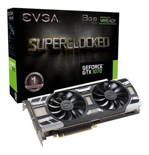 Tarjeta De Video Evga Nvidia Geforce Gtx 1070, 8gb, 256-bit