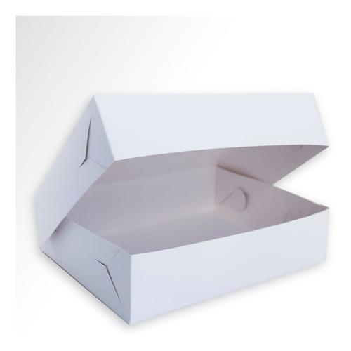 Caja Alfajores Blanca Sin Visor, 22x17x5,5 Cm- Pack X 100 Un