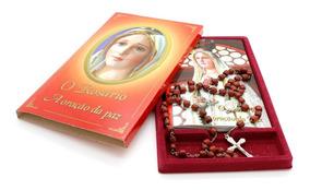 Kit O Rosário A Oração Da Paz - Terço+livrinho Dos Mistérios